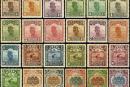 普8 北京二版帆船、农获、牌坊邮票