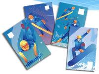 新邮背景:《北京2022年冬奥会——雪上运动》纪念邮票