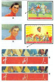 文5《毛主席的革命文艺路线胜利万岁》邮票的真僞鉴别