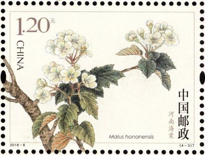 新邮背景:《海棠花》特种邮票