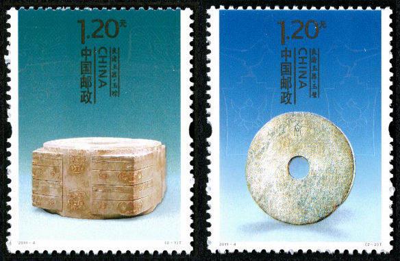 良渚玉器特种邮票展示了良渚文化和促进良渚文化的保护和研究