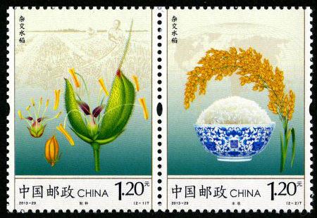 纪念中国杂交水稻40年来取得的成就,《杂交水稻》特种邮票欣赏