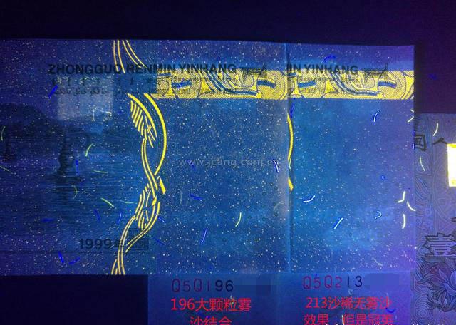1999年1元荧光强背金沙的研究与分析