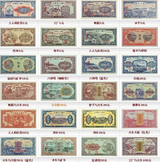 2017年2月第一套人民币价格表