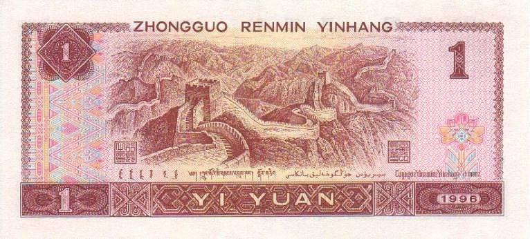 1996年1元人民幣回收價格表