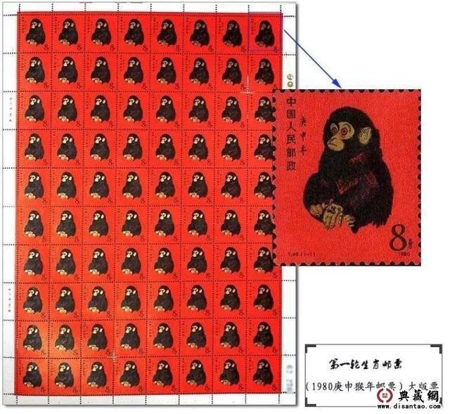又漲了!整版80猴票拍賣價格再創新高