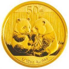 2009年熊猫1/10盎司金币