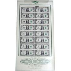 1美元16连体钞 美元整版钞
