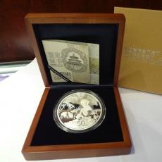 中国熊猫金币发行30周年5盎司银币