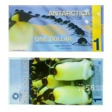 南极100周年企鹅塑料纪念钞十五连体整版钞 企鹅整版连体钞