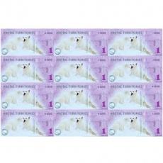 北极狐12连体塑料整版纪念钞 北极狐连体钞/整版钞