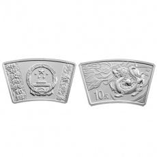 2012年中国壬辰龙年生肖1盎司扇形本银币