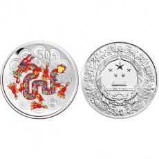 2012年中国壬辰龙年生肖5盎司彩银币