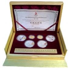 2008年第29届奥运第1组本金彩银套币