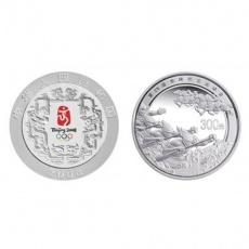 2008年第29届奥运第2组1公斤彩银币-赛龙舟