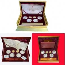 2008年第29届奥运第123组1/3盎司本金彩银大全套币