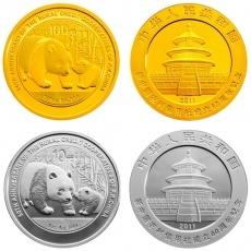 新中国农村信用社成立60周年熊猫加字金银纪念币