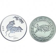 2008年戊子鼠年生肖1公斤本银币