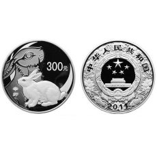 2011年辛卯兔年生肖1公斤本银币