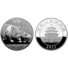 2010年版熊猫1公斤本色银币