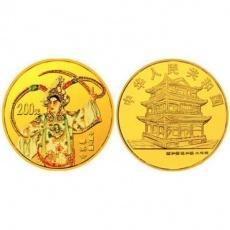 2001中国京剧艺术第3组1/2盎司彩金币 群英会
