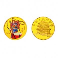 2000年中国京剧艺术第2组1/2盎司彩金币 梁红玉