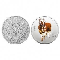 2003年癸未羊年生肖1盎司彩银币