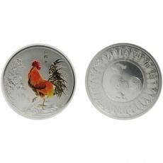 2005年乙酉鸡年生肖1盎司彩银币