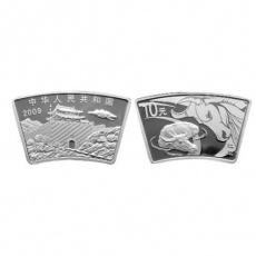 2009年己丑牛年生肖1盎司扇形本银币