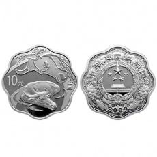 2009年己丑牛年生肖1盎司梅花形本银币