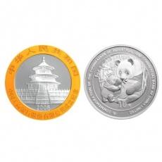 2005年中国工商银行股份有限公司成立熊猫加字1盎司双色币