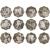 1998-2009年十二生肖1盎司本色银质纪念币大全套