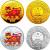 2010年庚寅虎年生肖彩金银套币(1/10盎司金+1盎司银)