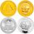 2009年农业银行股份有限公司成立熊猫加字本金银套币(1/4盎司金+1盎司银)