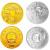 2009年中华人民共和国成立60周年本金银套币(1/4盎司金+1盎司银)