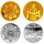 2007年内蒙古自治区成立60周年本金银套币(1/4盎司金+1盎司银)