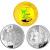 2010年世博彩金银套币(1/3盎司金+2*1盎司银)
