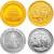 2010年中国农业银行股份有限公司上市本金银套币(1/4盎司金+1盎司银)