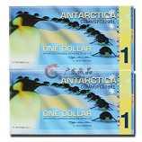 南极100周年企鹅塑料纪念钞两连体 企鹅连体钞