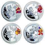 2008年第29届奥运第1组1盎司彩银套币