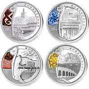 2008年第29届奥运第2组1盎司彩银套币