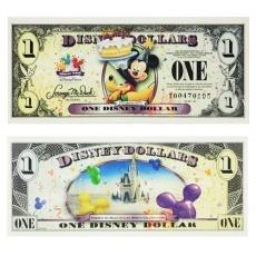 迪士尼1美元纪念钞