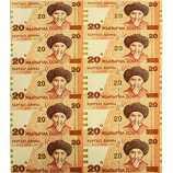 吉尔吉斯斯坦20元连体钞