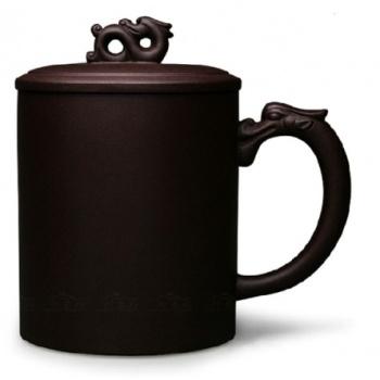 紫砂杯宜兴正品全手工大号茶杯龙行天下