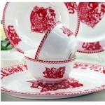 喜庆高档珐琅陶瓷餐具 年年有余