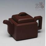 宜兴紫砂壶名家全手工正品原矿紫泥亚明四方茶壶