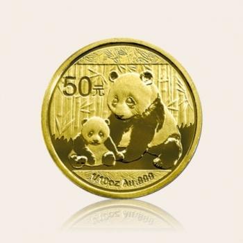 2012版熊猫1/10盎司金币