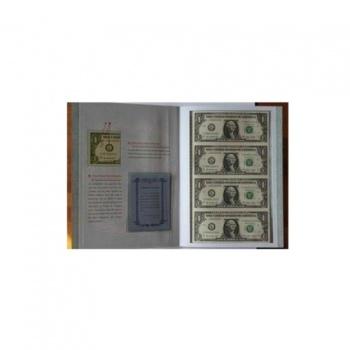 1美元4连体钞 美元连体钞
