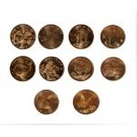 10枚珍稀动物纪念币全套