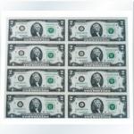 2美元8连体钞 美元连体钞